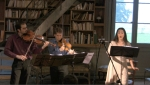 "Colin Pip Dixon, Arnaud Ghillebaert & Mariam Tamari ""Invocation"" at the Chateau de Machy, France"